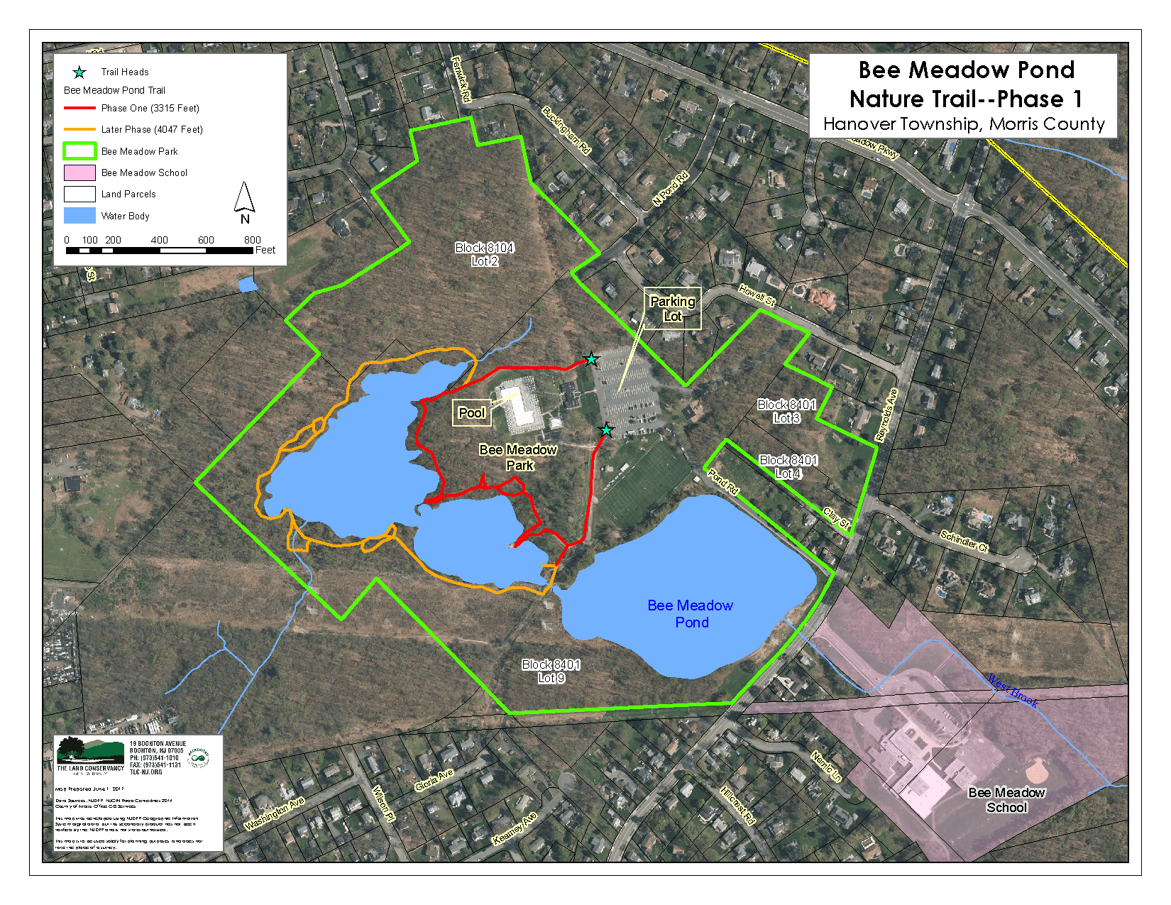 Bee Meadow Pond Nature Trail Map